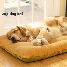 Extra Large Pets Puppy Nest Yellow Dog Bed Warm Soft Fleece Molly Cat Bed LG