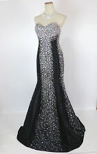 JOVANI 91151 Black Prom Evening Gown Cruise Formal NWT-Available Size 0, 2, 4