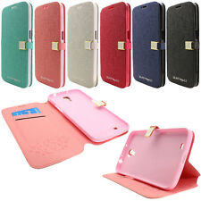 For Samsung Galaxy Mega 6.3 I527 I9200 I9205 Leather Wallet Case Kickstand Pouch