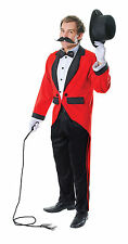 "FANCY DRESS RINGMASTER CIRCUS CLOWN ONE SIZE FITS TO 44"" CHEST"