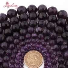 """6,8,10mm Natural Faceted Round Purple Amethyst Gemstone Beads Spacer Strand 15"""""""