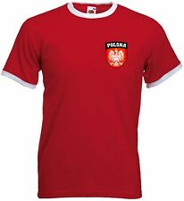 Poland Polska Polish Crest Football Soccer National Team T-Shirt (All Sizes)