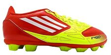 Adidas F5 Trx Hg J Boy's Red 15 Moulded Stud Hard Ground Football Boots New