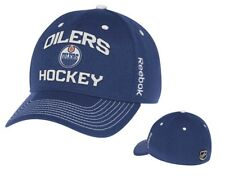 Edmonton Oilers Locker Room Blue Flex Fit Hat