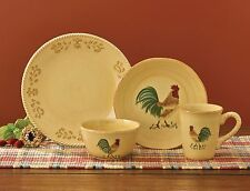 Free Range Dinnerware by Park Designs, Tuscan Pattern with Chanticleer, Rooster