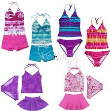 BNWT Girls Halter Tankini Set Swimsuit Swimwear Swim Swimming Costume Ages 7-16