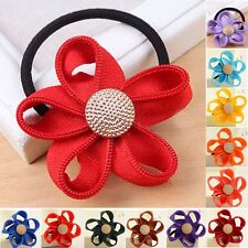 Ladies Girls Flowers hair accessories rope ponytail tie holder band hair elastic