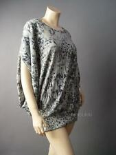 Abstract Moody Art Pattern Dolman Sleeve Sweater Knit Top 104 mv Blouse 1X 2X 3X