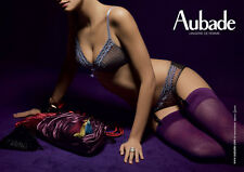 Aubade Plume d'Amour JC70 Navy Brief with Garter Straps - Various Sizes