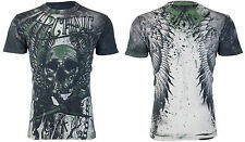 Archaic AFFLICTION Men T-Shirt CADAVEROUS Skull Wings Tattoo Biker UFC M-4XL $40