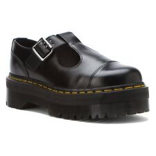 Dr. Martens Women's Bethan Casual Mary Jane T Bar Shoes Black Polished Smooth