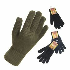 Mens Unisex Gloves Warm Winter Woven Textile Thermal One Size