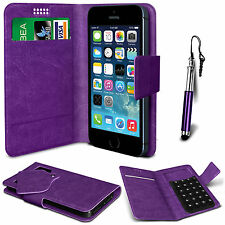 Purple Leather Suction Wallet Flip Mobile Phone Case For Various Sony Sets