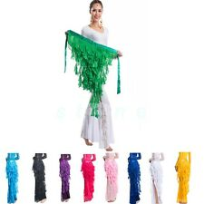 Belly Dance Costume Waistband Hip Scarf Belt Wave Tassel Waist Chain 12 Colors
