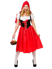 Adult Little Red Riding Hood Fancy Dress Costume Fairy Tale Party Outfit Ladies