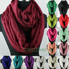 Women's Fashion Scarves Solid Color Shiny Glitter Casual Long/Infinity Scarf New