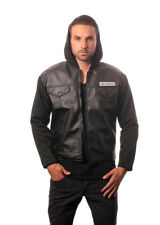 Adult Action TV Show Sons of Anarchy Road Biker Gear Leather Jacket with Hood