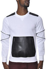 Leather Bare Fox Crocodile Reptile Skin Soft Fleece Plus Size Crew Neck Sweater