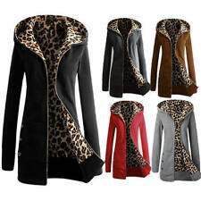 SIZE 8-24 WINTER SEXY LADIES JACKET HOODED JUMPER COAT SWEAT ZIP HOODIE OUTWEAR