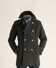 New Mens Superdry Off Jermyn St Pea Trench Coat Slate Grey