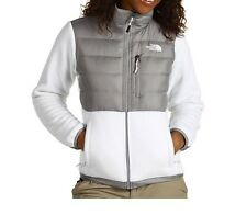 The North Face Womens Denali Down Jacket insulated Fleece winter coat White NEW