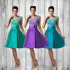 ❤ Discount ❤ Retro Mother of the Bride Bridesmaid Prom Party Evening Short Dress