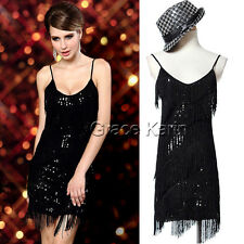 CHEAP Flapper Vintage Tiered Fringe Sequins Latin Dance Evening Party XMAS Dress