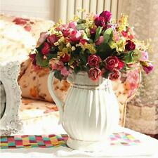 Bouquet 21 Head Artificial Peony Rose Silk Flower Home Party Wedding Decoration
