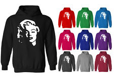 Mens Marilyn Monroe Face Hollywood Movie Icon Pullover Hoodie NEW XS-XXL