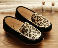 NEW BrandFall Kids Baby Toddler Girls Fashion Leopard Soft Leather Sneaker Shoes