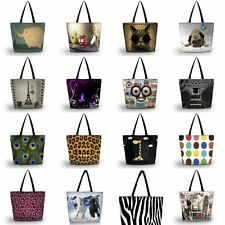 Fashion Large Reusable Handbag Tote Bag Grocery Storage Fr Shopping Beach Sports