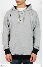 2014 NWT MENS NIKE WAFFLE HENLEY PULLOVER HOODIE $60 heather grey black