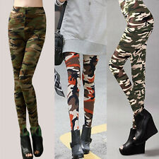 Sexy Army Lady Leggings Soft Commando Military Print Pencil Pants Stretch Tights