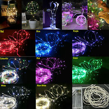 8 Color 5M 50 LEDS LED Starry Lights Copper Wire String Fairy Battery Powered