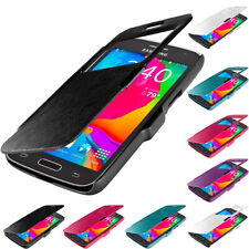 For Samsung Galaxy Avant G386 Magnetic Wallet Closing Hard Flip Case Cover