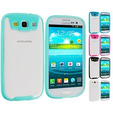 For Samsung Galaxy S3 TPU Bumper Skin Case Cover with Built In Screen Protector