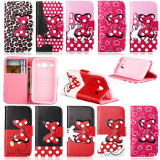 Cute Bow For Samsung Galaxy Duos Core i8262 Wallet Flip Leather Stand Case Cover