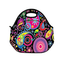 Paisley Waterproof Thermal Insulated Lunch Tote Bag Picnic Bag Cooler Container