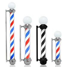 Historic Famous Barber Shop Pole Red White Blue Rotating Strips Hair Salon Sign