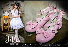 Lolita Baby butterflyl peri scalloped pearl beads Mary-jane Heel shoes 5131 PN
