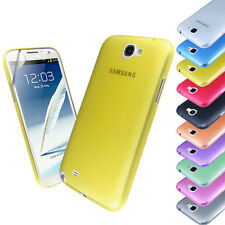 New Ultra Thin 0.3mm Case Cover FOR Samsung Galaxy Note 2 II N7100+Screen Film