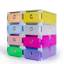 1X Foldable Colorful Plastic PP Storage Drawer Container Organizer Case Shoe Box