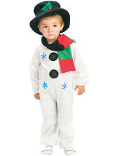 Kids Child Snowman Costume Age 2 - 8 Christmas Fancy Dress Childrens Toddler Boy
