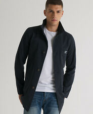 New Mens Superdry Commodity Trench Jacket Midnight Navy Blue