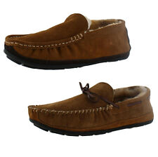 Lamo Santa Fe Men's Moccasin Sheepskin Slipppers Loafers Shoes
