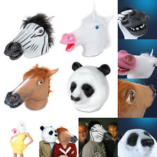 Horse Head Mask Creepy Animal Halloween Costume Theater Prop Novelty Latex
