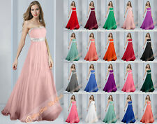 Long Ball Gown Party Prom Bridesmaid Evening DressBall Gown Size 6 8 10 12 14 16