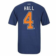 Edmonton Oilers Taylor Hall Blue Name and Number T-Shirt