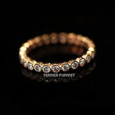 New Ladies Women Bronze Plated Round Austrian Crystal Ring Made in Korea RG41