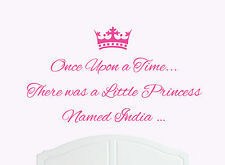 Once Upon a Time Princess India Wall Sticker Decal Bed Room Art Girl/Baby